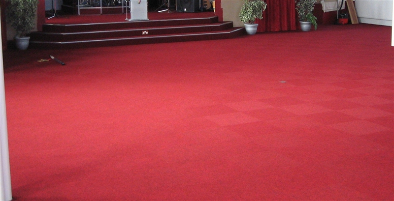 Heavy Duty Carpet Fitted To Church