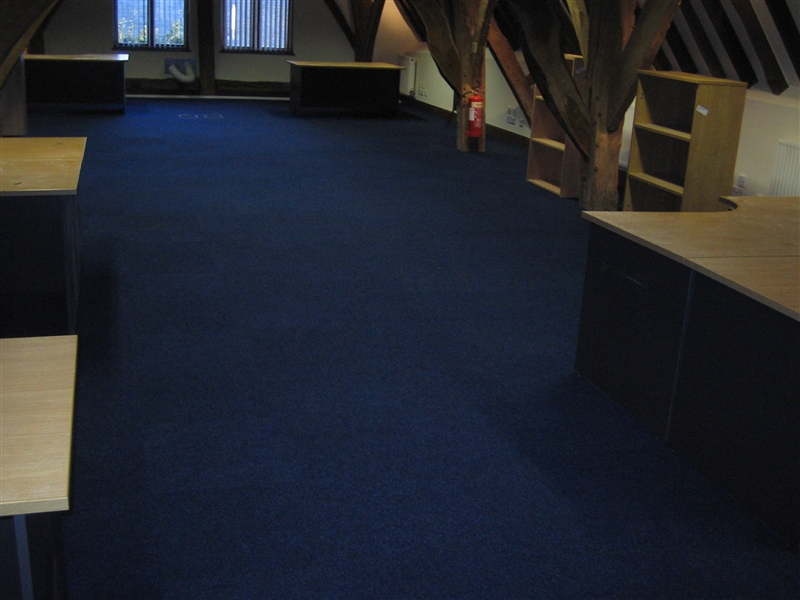 office with bedford carpet tiles