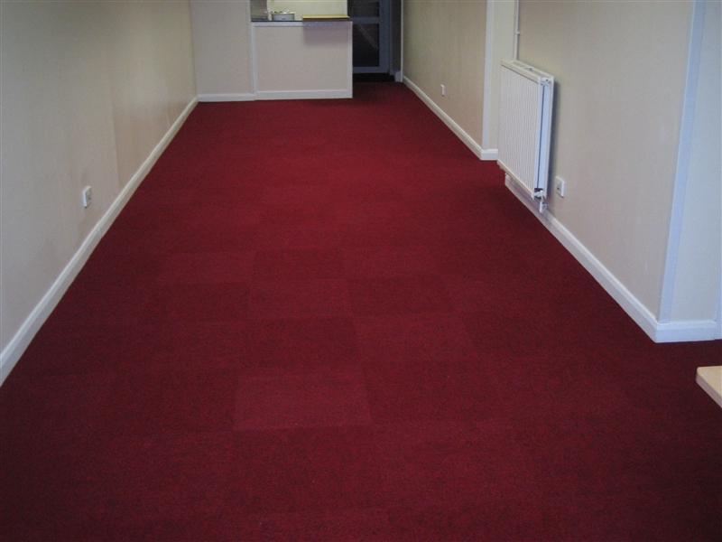Heavy duty carpet fitted to church for Contract flooring