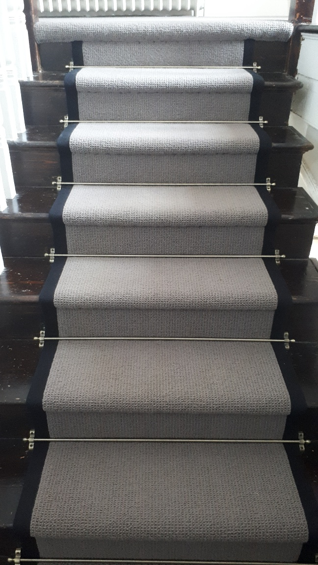 Exceptional Bloomsbury Carpet Fitted With Jubilee Antique Stairs Rods ...