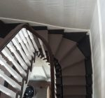 Bloomsbury carpet fitted with Jubilee Antique stairs rods