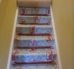 Hugh Mackay Durham Twist 50 oz carpet colour Bangkok Stripes fitted to stairs.